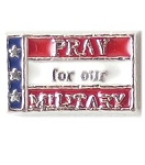 Pray for our Military Floating Charm